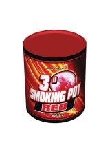 Цветной дым SMOKING POT красного цвета (60 сек)